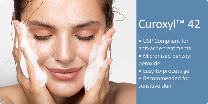 curoxyl benzoyl peroxide is the best in class benzoyl peroxide grade for anti-acne treatments